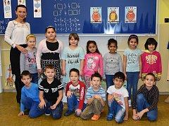 Žáci 1. B ZŠ Nerudova v Jirkově paní učitelky Michaely Strakové