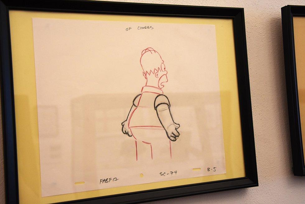Originální kresby pro seriál Simpsonovi.