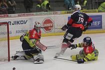 Druhé barážové utkání mezi domácími Budějovicemi a hosty z Chomutova.