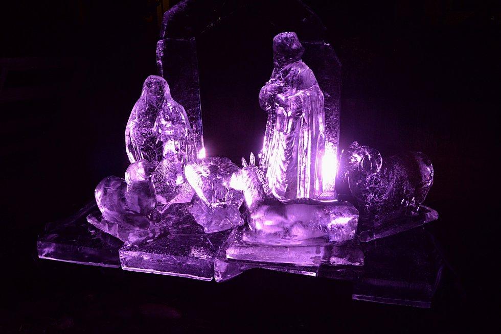 Ledový betlém v Kadani