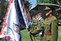 Oslavy konce války v Chomutově.