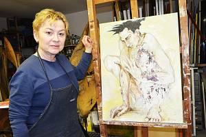 Klášterecká umělkyně Jitka Kůsová Valevská.