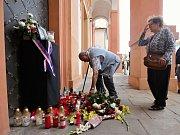 V Chomutově začal pohřeb Martina Marcina, vojáka, kterého na misi v Afghánistánu zabil sebevražedný atentátník.