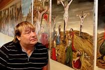 Galerie Josefa Lieslera v Kadani připravila výstavu Petr Urban – Pivrnec, kreslíř, malíř, sportovec