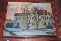 Obraz, který dostal prezident Miloš Zeman darem od zástupců Chomutova.