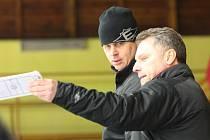 Doležal a Antonik v sobotním zápase Kadaně s Hradcem Králové