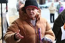 Snímek z druhého protesního setkání hnutí Nespokojení občané Chomutova.