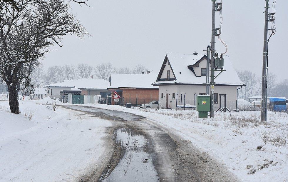 Nová zástavba mezi Vrskmaní a Zaječicemi.