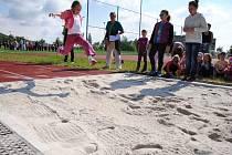 V atletickém sektoru sportoviště se v červnu loňského roku uskutečnila skautská akce Loučení s prázdninami.
