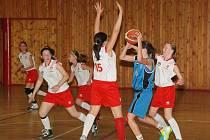 BK Levhartice Chomutov u14 - BA Sparta Praha U14 56:50, domácí v bíločerveném