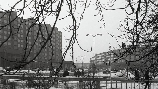 Historie centra Chomutova.