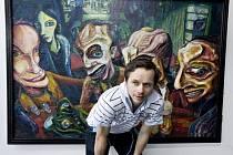 Adam Novák vystavuje v klášterecké galerii Kryt