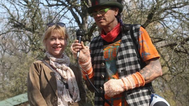 Herečka Dana Batulková na Dni Země v zooparku.