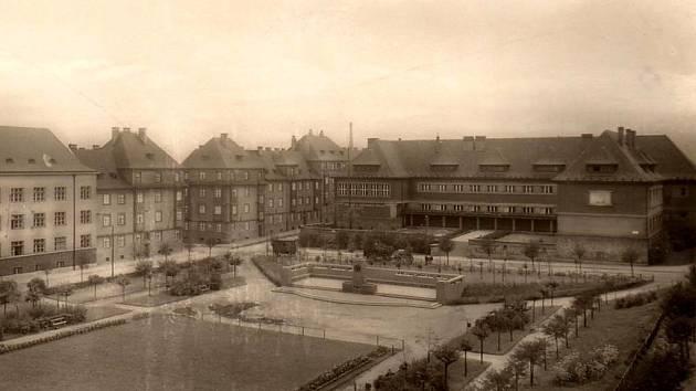 Náměstí TGM v Chomutově.