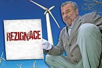 Werner Klenot, dnes již bývalý starosta Výsluní, rezignoval kvůli větrným elektrárnám.