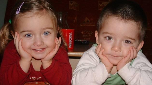 5. Honzík a Kačenka Baierovi (3 roky).