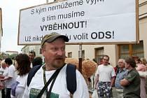 Snímek z jedné z nedávných protestních akcí.