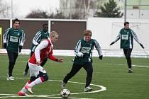 Fotbalisté Chomutova prohráli v přípravě s juniorkou Slavie 0:3