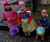 Děti dorazily i v kostýmech.