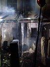 Požár v Galerii Kisza v centru Kadaně