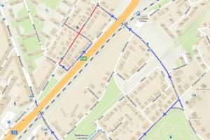 Do Moravské ulice v Chomutově se dostanete pouze objížďkou.