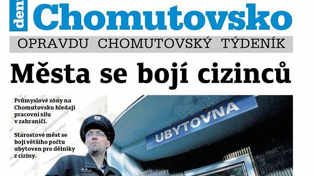 Čerstvý Týdeník Chomutovsko vyšel 15. května