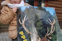 Plakát získala i osmiletá  Andrejka Grusová z Chomutova.