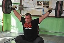 Jiří Orság na tréninku v Chomutově.