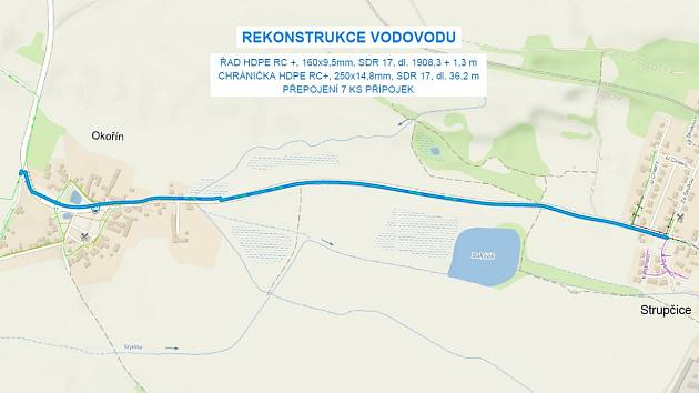 Ve Strupčicích provede SVS rekostrukci dožilého řadu pro 850 obyvatel.