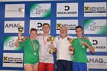 Nela Reisová, Jakub Drnec, předseda oddílu Ralf Kohout a Marcel Matucha na Velké ceně Rakouska.