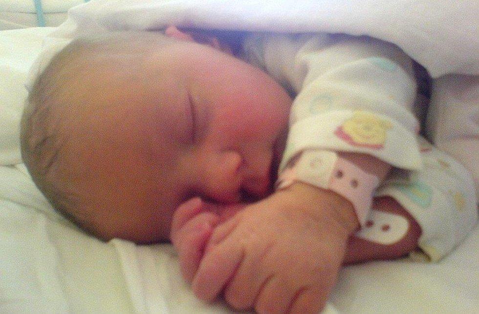 Malá Sára Soprová se narodila 6.6.2014 v 16.26 v chomutovské nemocnici, a to mamince Michaele Volfové a tatínkovi Marku Soprovi. Vážila 3.300 kilogramů a měřila 52 centimetrů. Foto poslala rodina.