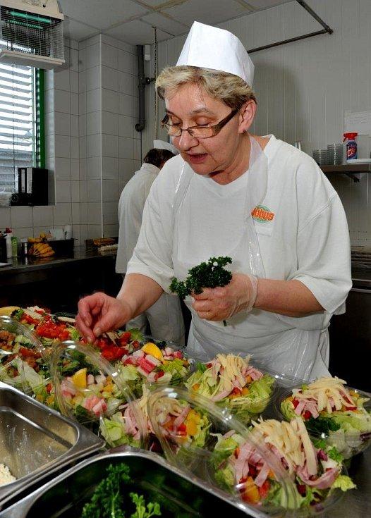 Jídelna a kuchyně Globus.