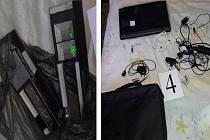 Skimmovací zařízení, které našli policisté po zadržení pachatelů.