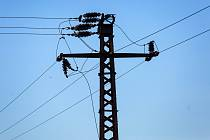 Elektrické vedení. Ilustrační foto.