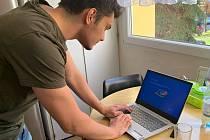 Student František Német z Chomutova, který studuje střední průmyslovou školu.
