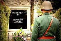 Pietní akt uctil památku příslušníků Stráže obrany státu v Hoře Svatého Šebestiána.