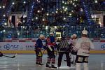 Benefiční utkání, které uspořádali sportovci Chomutovska pro malou Magdalenku