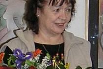 Paní Helena Sopková při oslavách svých 60. narozenin.