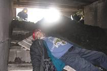 Velké cvičení hasičů, záchranářů a kynologů v areálu Doly Nástup Tušimice.