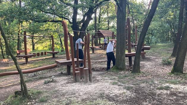 Pět odsouzených pod dohledem speciálního pedagoga, uklízelo v sobotu všehrdský lesík.