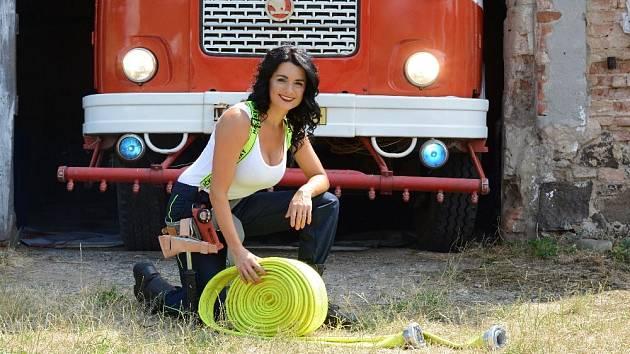 Libědická dobrovolná hasička Martina Kocinová