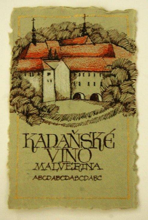 Vítězný návrh .Bílé víno bude reprezentovat Františkánský klášter, kde se také víno pěstuje.