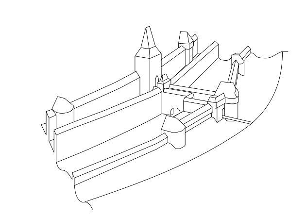 Na základě objevů archeolog Kryštof Derner nakreslil možnou podobu systému předbraní, jak mohl vypadat na konci 15.století