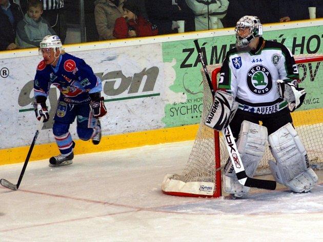 Hokej. BK Mladá Boleslav - KLH Chomutov. 1. liga play-off finále.