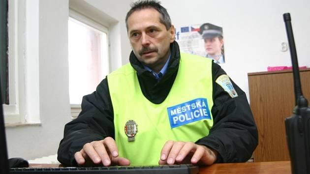 Strážník chomutovské městské policie. Ilustrační foto.