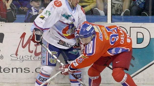 Snímek z utkání Chomutov - Poruba