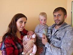 Kristýna Hlaváčková se narodila 25. dubna 2017 rodičům Lucii Holaňové a Martinu Hlaváčkovi z Chomutova. Vážila 3,1 kg a měřila 48 cm. Přivítat ji přišel i bráška Tadeáš Hlaváček.