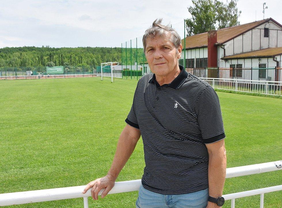 Předseda Sportovního klubu Strupčice Jaroslav Vostrý.