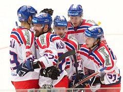 Čeští hokejisté porazili v Chomutově Norsko 4:0.