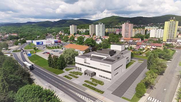 Vizualizace nového kulturního centra, které vzniká přestavbou původního kulturního domu.